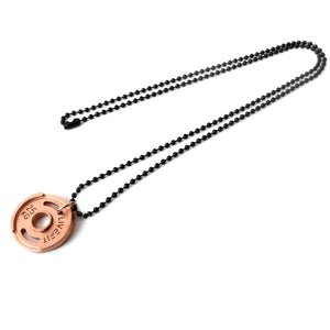 LIVEFIT™ Micro Weight Plate Necklace - Rose Gold