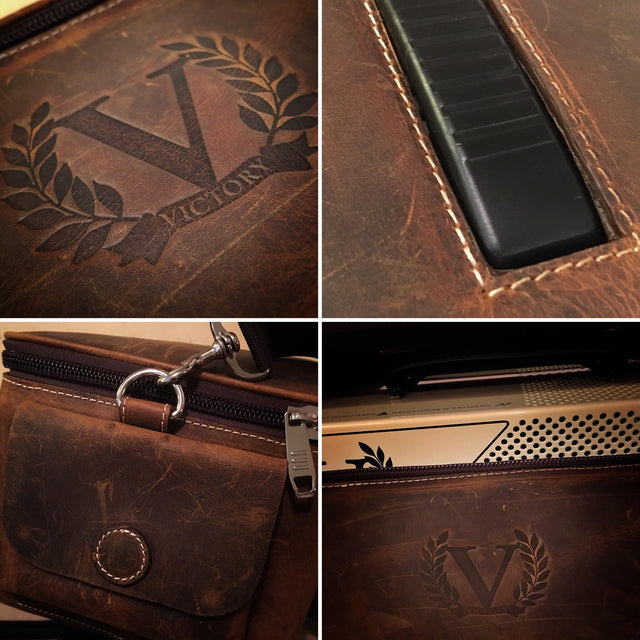 Victory Amps Compact Leather Travel Bag
