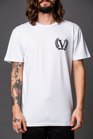 Official Victory The Duchess Short Sleeve T-Shirt - White with Black Logo.