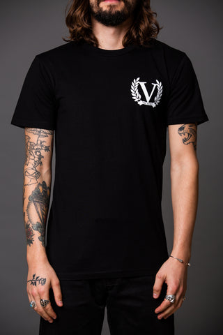 Official Victory The Jack Short Sleeve T-Shirt - Black with white logo.