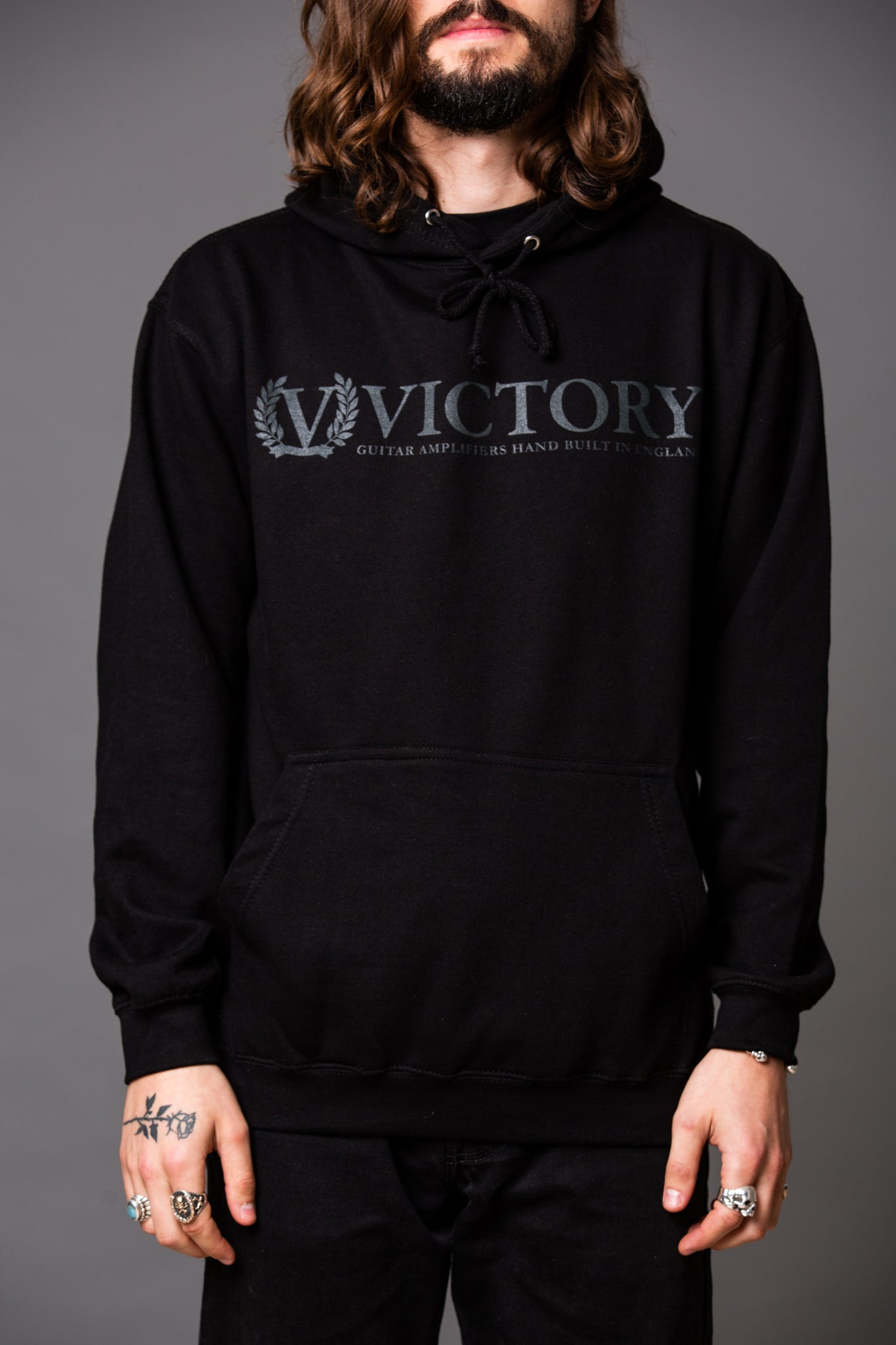 Official Victory Hoodie - Black with Black logo.