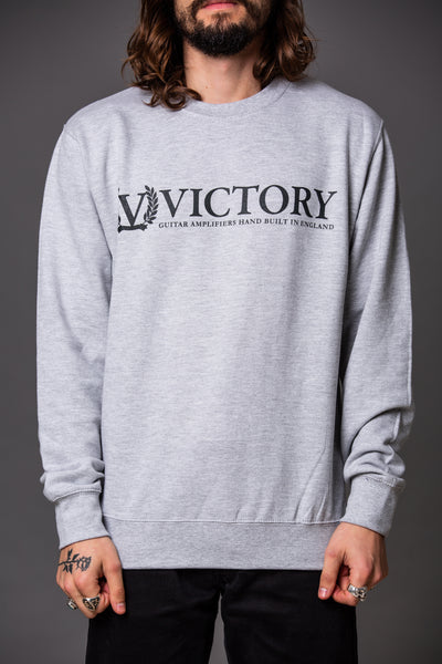 Official Victory Sweatshirt - Grey with Black logo.