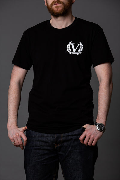 Official Victory The Copper Short Sleeve T-Shirt - Black with white logo.