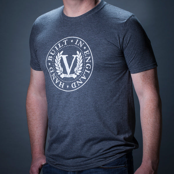 Official Victory Logo Short Sleeve T-shirt - Heather Grey / Weathered White Stamp Logo