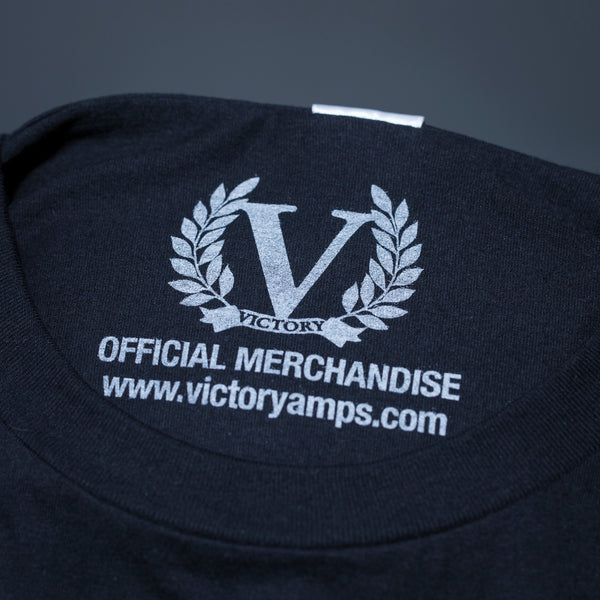 Official Victory Logo Short Sleeve T-shirt - Black/Stone White