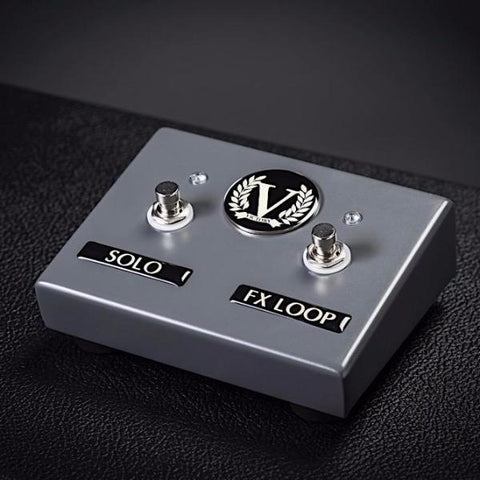 Custom VX Dual Footswitch - Solo + FX Loop - Battleship Grey