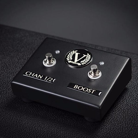 Custom V50 and V100 Dual Footswitch - Channel 1/2 + Boost - Satin Black