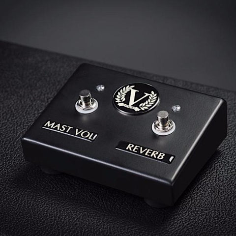 Custom V100 Dual Footswitch - Master Volume + Reverb - Satin Black