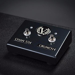 Custom V130 Dual Footswitch - Channel 1/2 + Crunch - Black Chrome