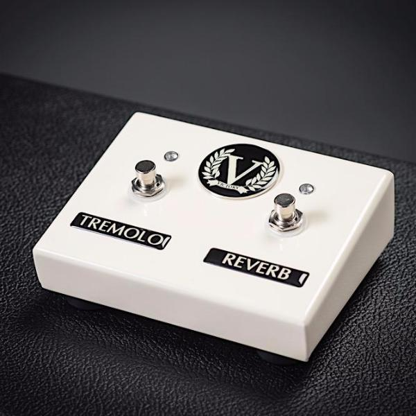 Custom V40 Deluxe Head & Combo Dual Footswitch - Tremolo + Reverb - Gloss Cream