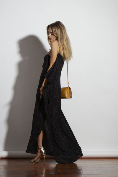 AZAI DRESS BLACK PLEAT