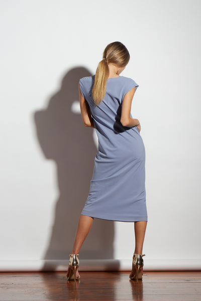 HALSTON MID SILK SKY OUTLET