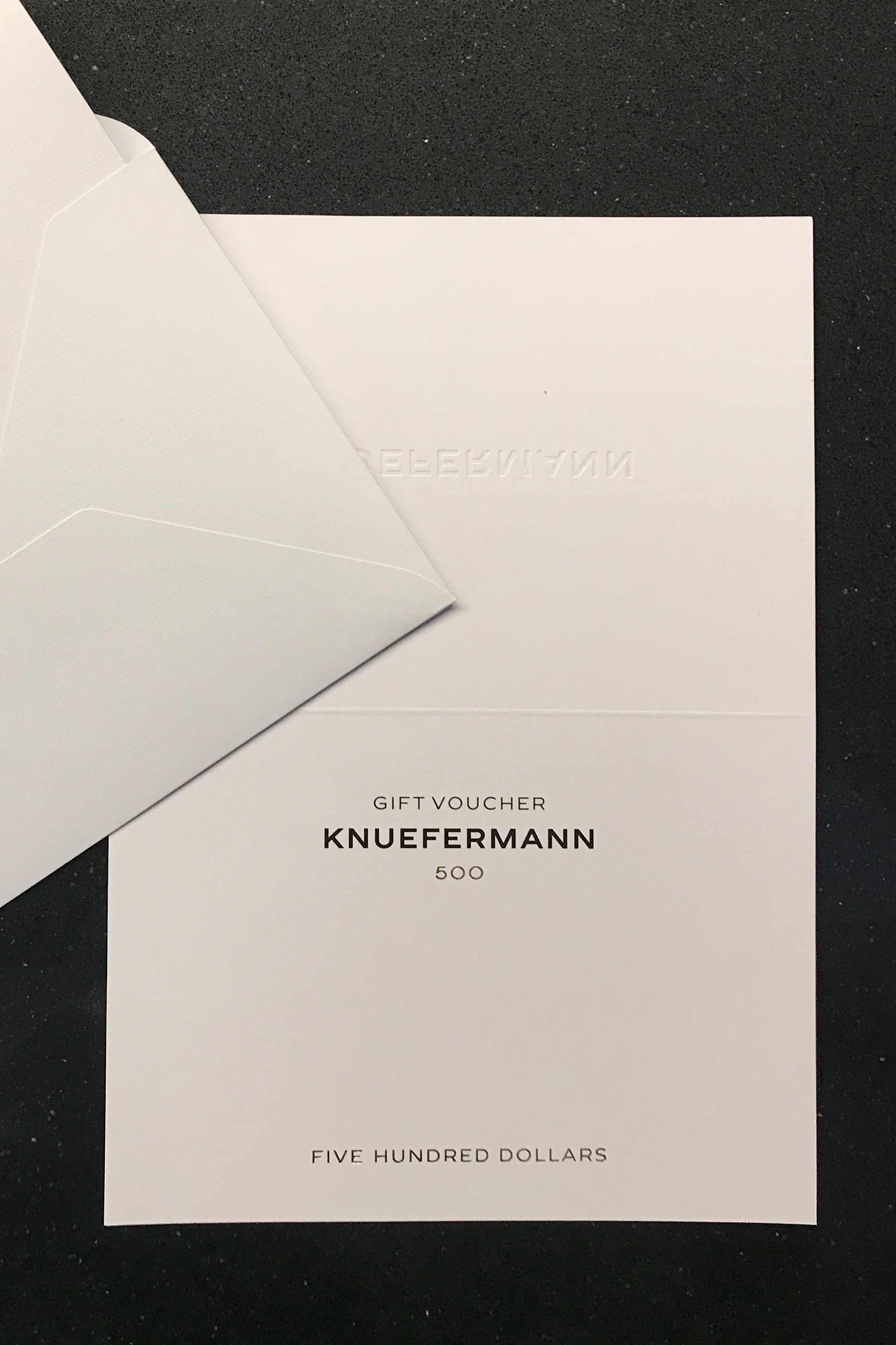 GIFT VOUCHER $500 - KNUEFERMANN