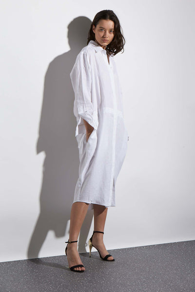LINEN SHIRTDRESS - KNUEFERMANN