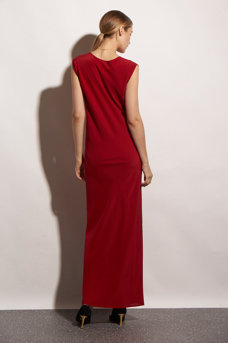 HALSTON DRESS LONG PURE SILK - KNUEFERMANN