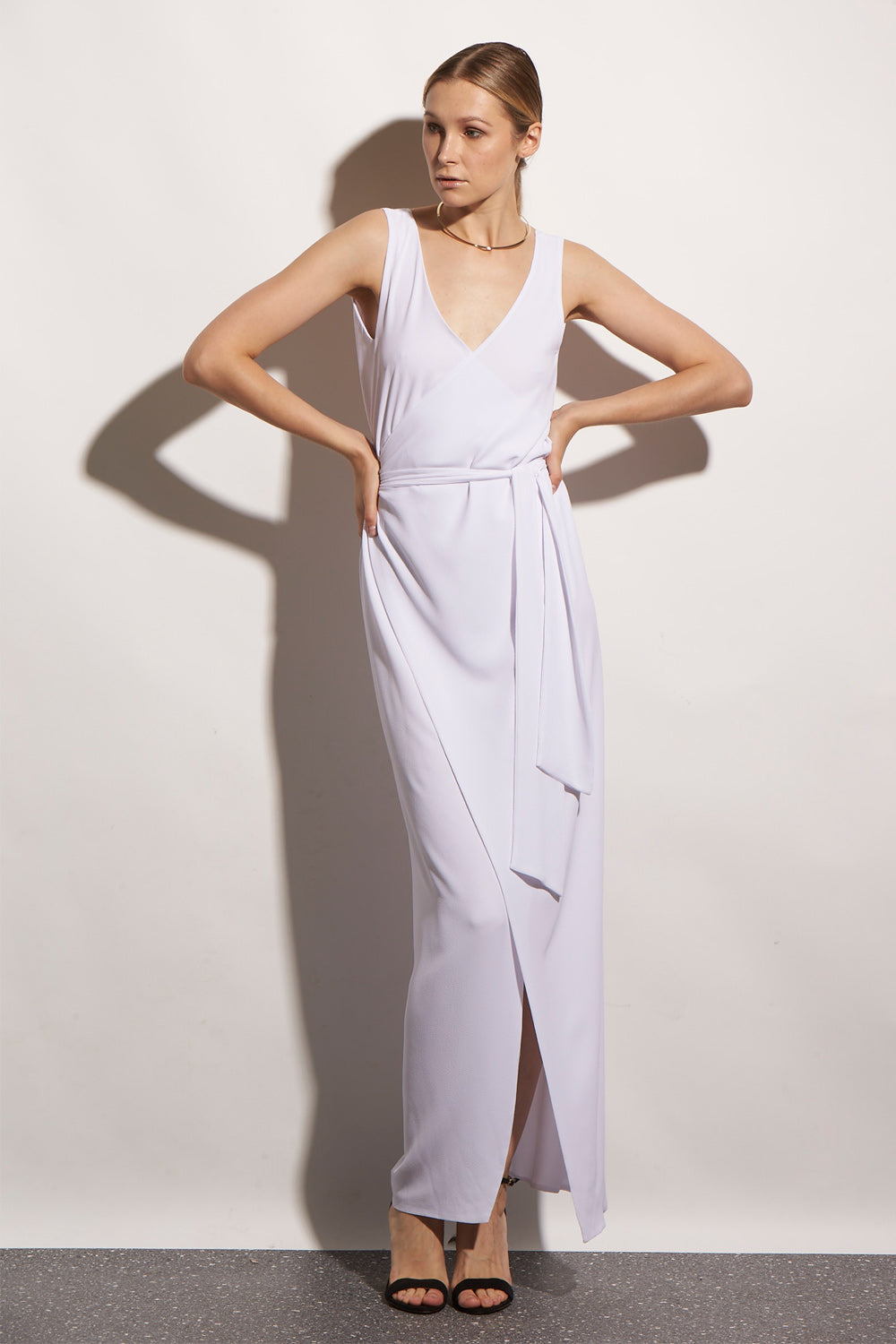 TK WRAP LONG CREPE WHITE - KNUEFERMANN