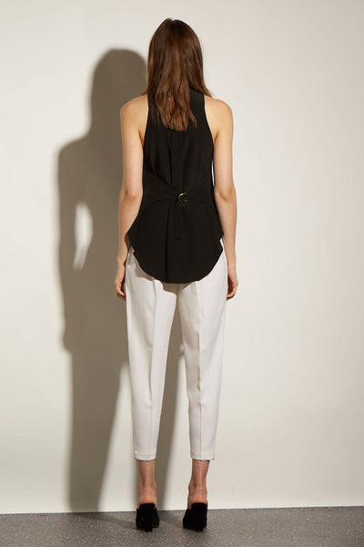 SUMMER VEST BLACK SILK - KNUEFERMANN