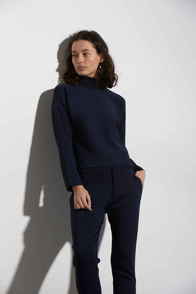DOUBLE KNIT JOGGER BLUE - KNUEFERMANN