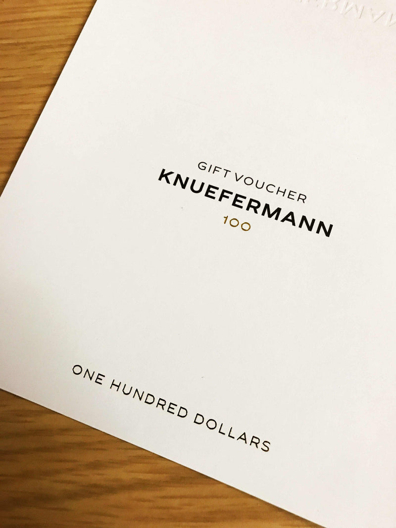 GIFT VOUCHER $100 - KNUEFERMANN