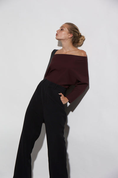 QUEENIE TOP LUXURY PONTE - KNUEFERMANN