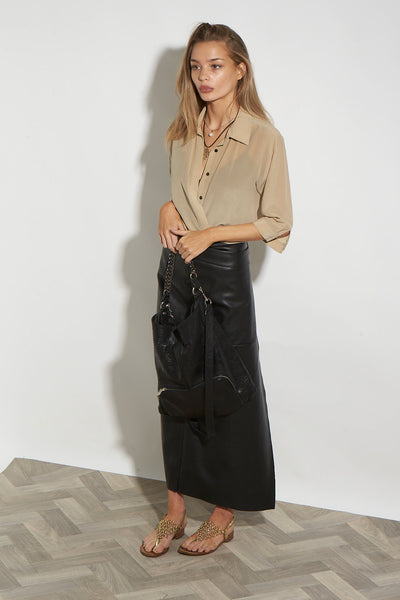 VEGAN WRAP SKIRT