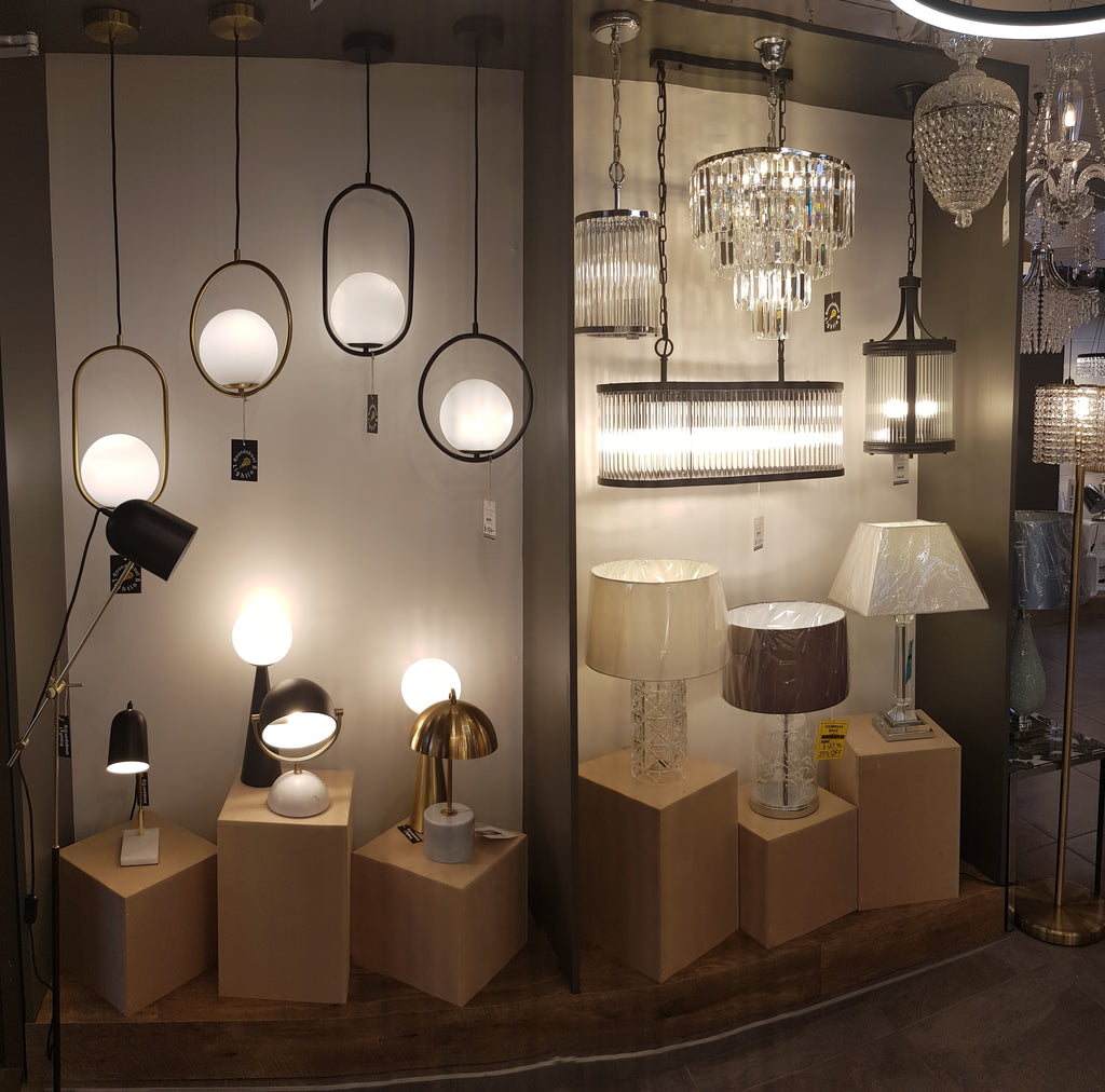 New Displays of all our New Lighting Products!