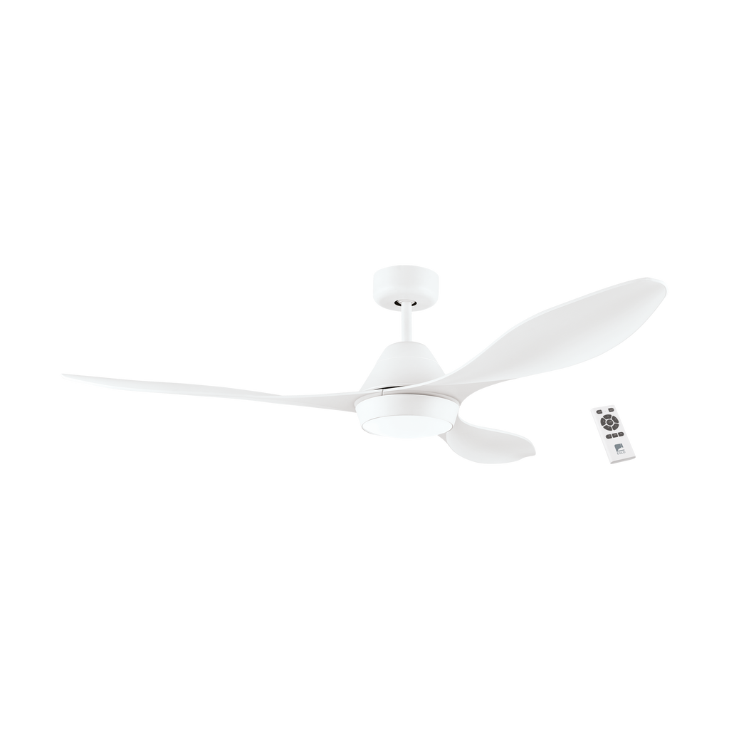 Nevis 3 Blade Abs Dc Remote Ceiling Fan With Led Light Roundabout Lighting