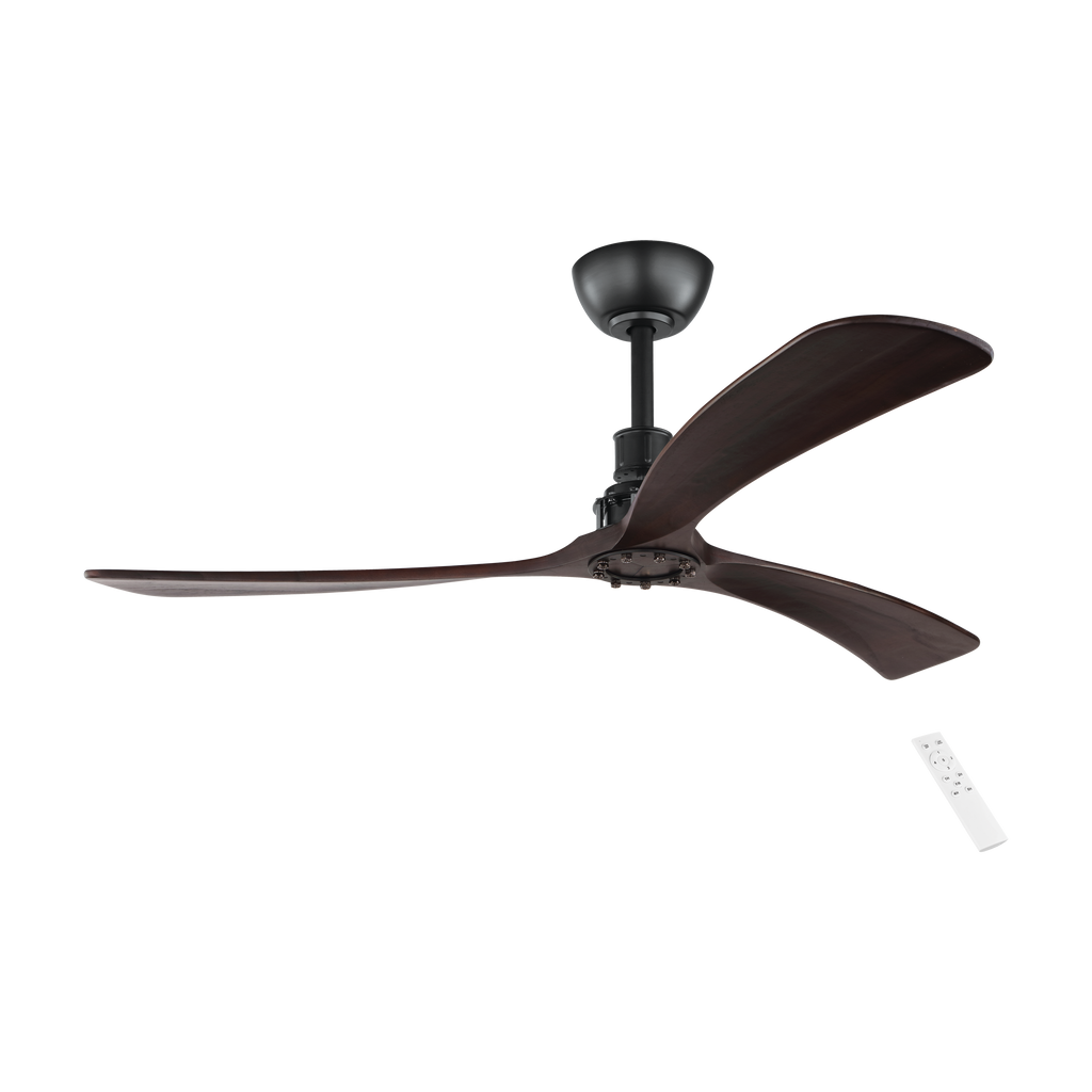 Zapallar 3 Blade Dc Remote Timber Ceiling Fan Roundabout