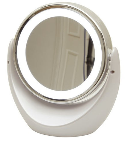 Dual Sided Magnifying Mirror with LED Light