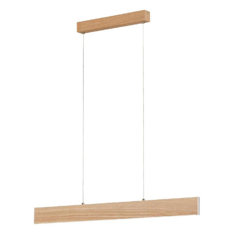 Climene LED Linea Bar Pendant Light Timber