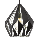 Carlton 1 310mm Geometric Metal Cut Out 1lt Pendant Light