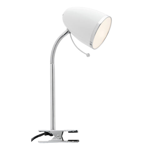 Sara Clip On Metal Clamp Adjustable Reading Lamp