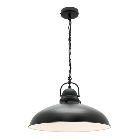 Verona Metal Shade Pendant Light Matt Black