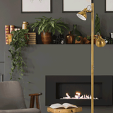 Carson 2lt Metal Floor Reading Lamp