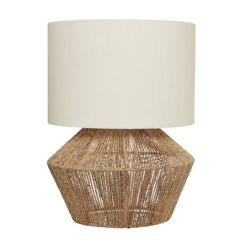 Cassie Table Lamp & Shade Natural String/White