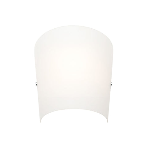 Holly Opal Glass Wall Sconce Light Chrome