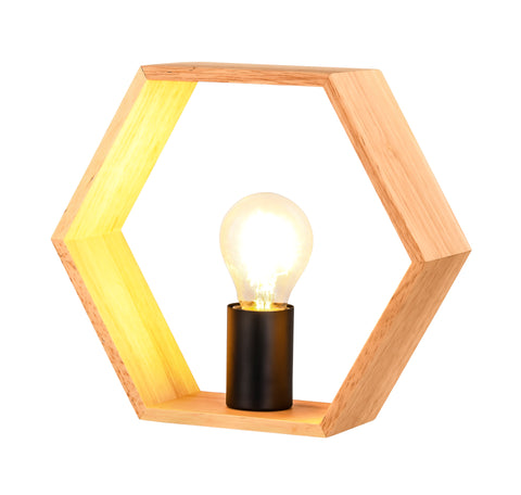 Desta Hex Wood Table Lamp