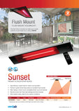Sunset Outdoor Electric Radiant Strip Heater IP65