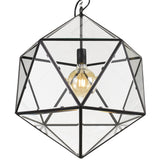 Lazlo 1lt Geometric Glass/Metal Pendant Light