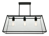 Manchester Pendant Light Black/Clear