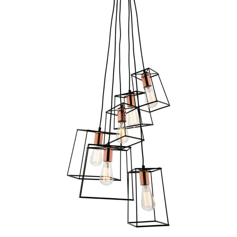 Zappa 6lt Pendant Black/Copper