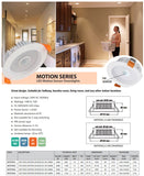 Motion Sensor LED Downlight White