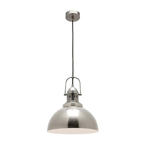 Industry 1lt Pendant Light Antique Silver