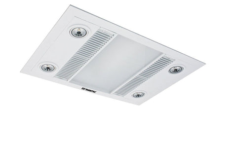Linea Bathroom 3in1 Exhaust Fan / Heat / LED Light