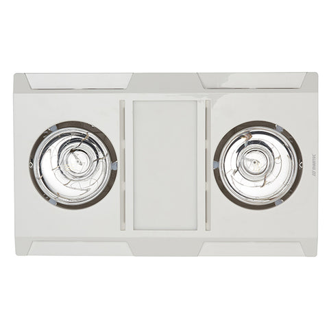 Profile Panel Bathroom 3in1 High Performance Exhaust Fan / Heat / 12w LED Light