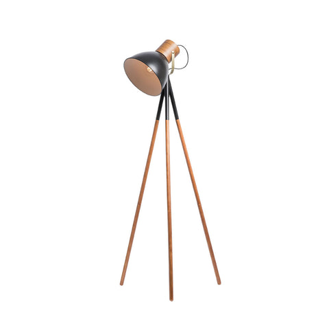 Calico Tripod 3 leg Metal/Wooden Floor Lamp