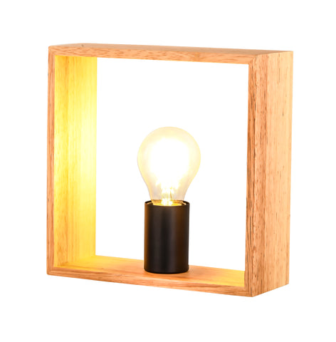 Nakato Square Wood Table Lamp