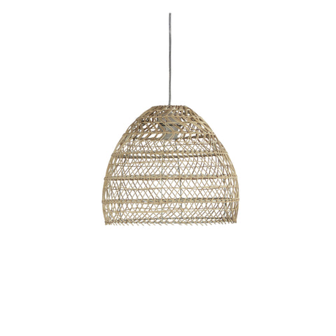 Mette Rattan Cane 1lt Cord Pendant Light Natural Wood
