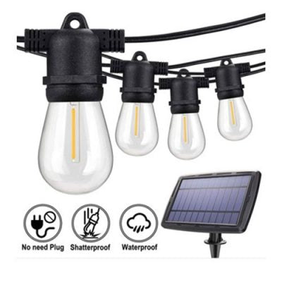 Solar Powered 15m 15LT LED Festoon Party Light Set