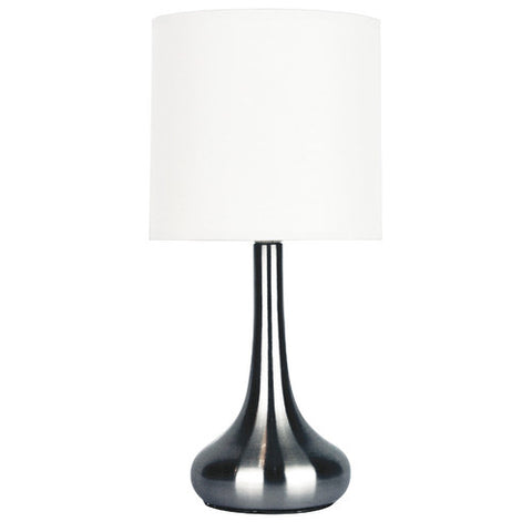 Lola Metal Touch Lamp with Fabric Drum Shade